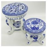 Blue and White Porcelain Stands
