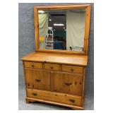 Pine Chest with Mirror