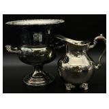 Silver Plated Pitcher & Champagne Chiller