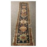Hand Knotted 3.2 x 13.4ft Antique Rug