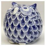 Blue and White Porcelain Bird
