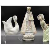 3pc Lladro and Nao Figurines