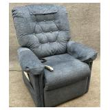 Pride Blue Upholstered Lift Chair
