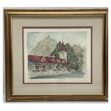 Watercolor Print Signed Artist Proof