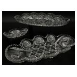 3pc Cut Glass Dishes