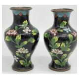 Pair Small Cloisonne Vases