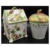 2pc Royal Albert Old Country Roses Cookie Jars