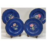 RARE! Spode Copeland Hand Painted Floral Plates