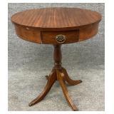 Mahogany One Drawer Pedestal Table