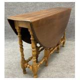 Antique Walnut Drop Leaf Gate Leg Table