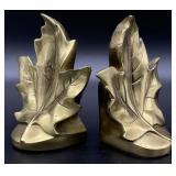 PM Craftsman Brass Leaf Book Ends