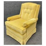 Harden Yellow Button Tufted Arm Chair