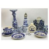12PC Assorted Blue and White Decor