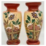 Pair of Antique Bristol Style Vases
