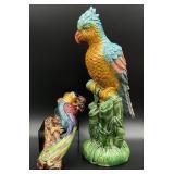 Porcelain Bird Wall Pocket and Figurine