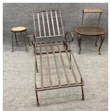 4pc Misc Wrought Iron Outdoor Furniture