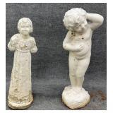 Pair of Concrete Figural Statues