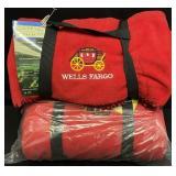 Pair Wells Fargo Fleece Blankets