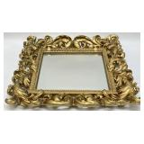 Painted Gold Carved Leaf Wall Mirror