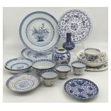 Lot of Misc Blue & White China and Decor