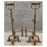 Pair of 19th Century French Gothic Andirons