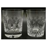 Waterford Crystal Double Old Fashioned Glasses