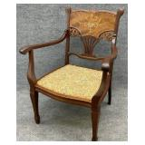 Excellent French Marquetry Inlaid Chair