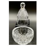 2pc Waterford Crystal Bowl & Bell