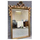 Carolina Mirror Co. Gilt Framed Bow Top Mirror