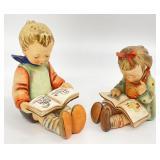 Goebel Hummel Bookworm Boy & Girl Figurines