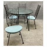 Arthur Umanoff Mid Century Table & 4 Chairs