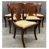 6 Mahogany Sabre Leg Chairs Craftique?