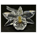 Swarovski Crystal Orchid Yellow Figurine