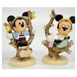 Goebel Disney Minnie & Mickey Mouse in Apple Tree