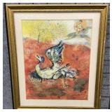 Marc Chagall Framed Lithograph