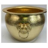Asian Style Gold Painted Metal Planter