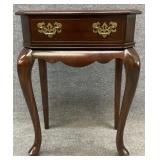 Mahogany 1 Drawer Queen Anne Stand
