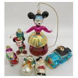Christopher Radko Minnie Mouse & Glass Ornaments
