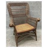 Victorian Wicker Arm Chair
