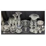 58pc Vintage Candlewick Glassware