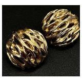 14k Gold Clip-On Earrings - 12.8g