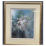 Carolyn Blish S/N Floral Art Print Framed