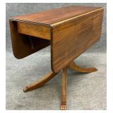 Clean Mahogany Drop Leaf Table