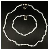 2pc Hobe White Beaded Necklaces