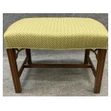 Quality Chippendale Mahogany Stool