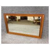 Rectangular Cherry Frame Mirror