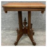 Antique Walnut Eastlake Center Table