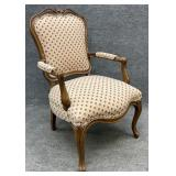 French Styled Floral Upholstered Arm Chair
