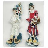 Pair Lincinio Studio Art Pottery Wall Plaques