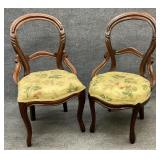 Pair of Victorian Balloon Back Chairs